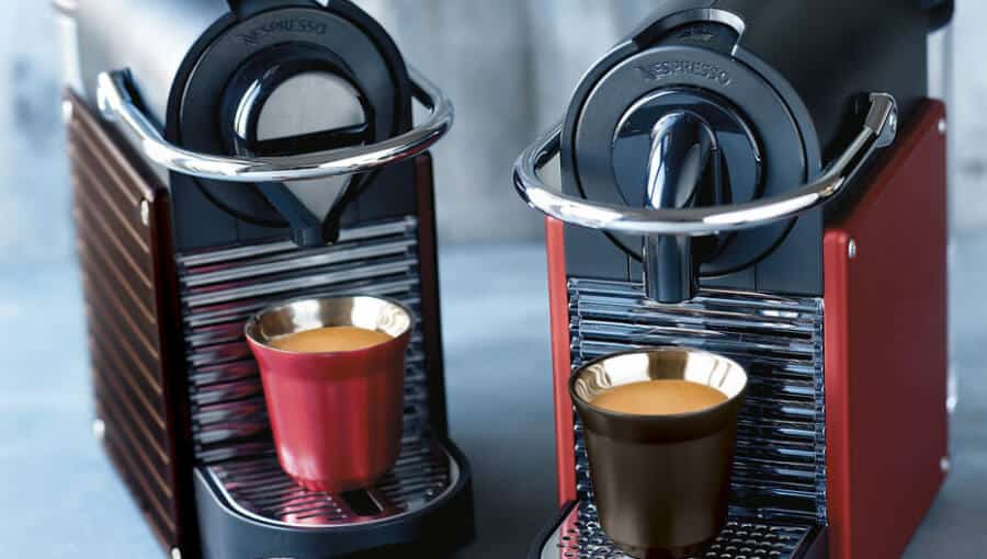 Nespresso pixie review wall koffie