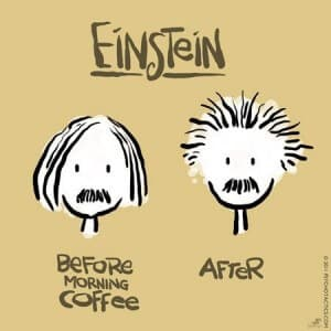 koffie einstein voor en na