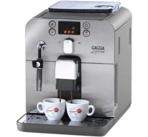 Gaggia Brera koffiezetapparaten met bonen