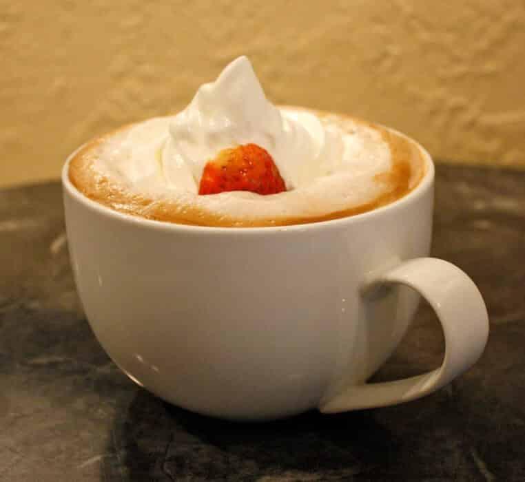 Aardbeien Latte