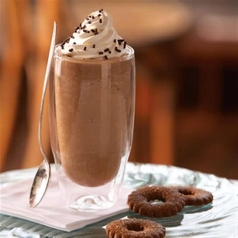 Bevroren mokka koffie