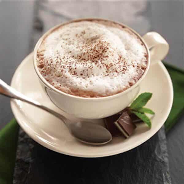 Chocolade munt cappuccino