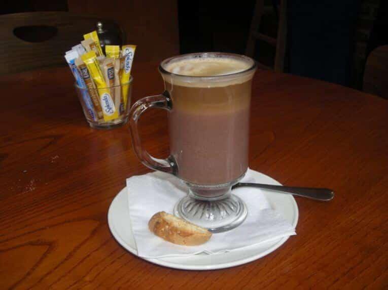 Hete mokka koffie