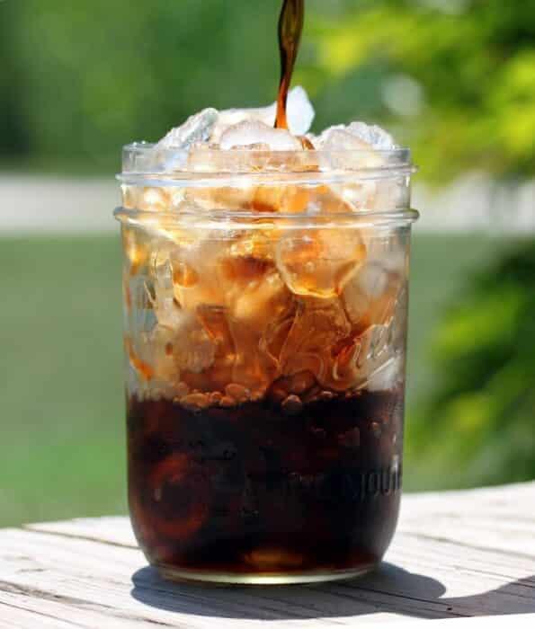 Romige zoete koffie