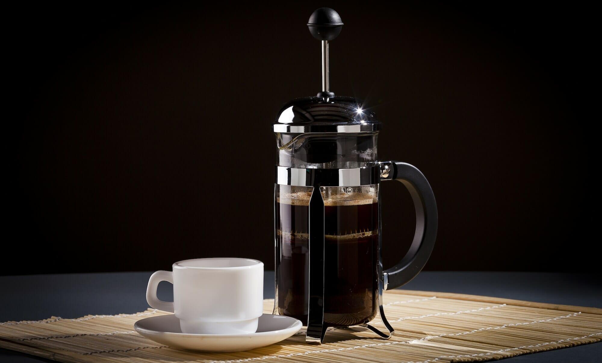 French Press Koffie maken