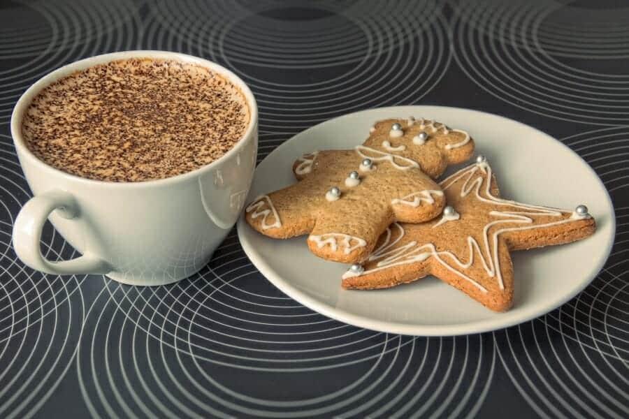 Gemberbrood koffie