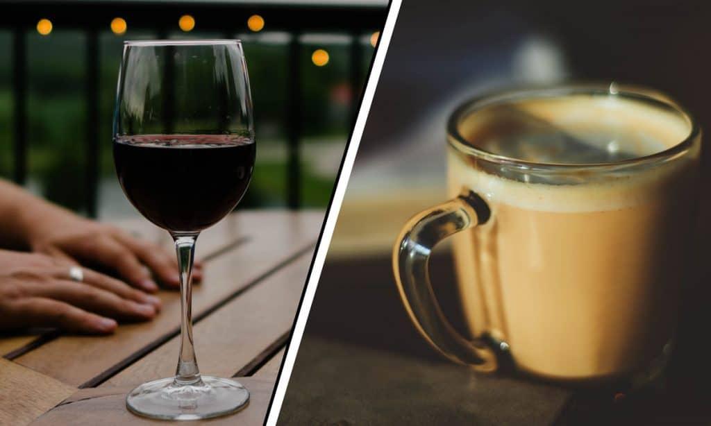 Koffie wijn infusie