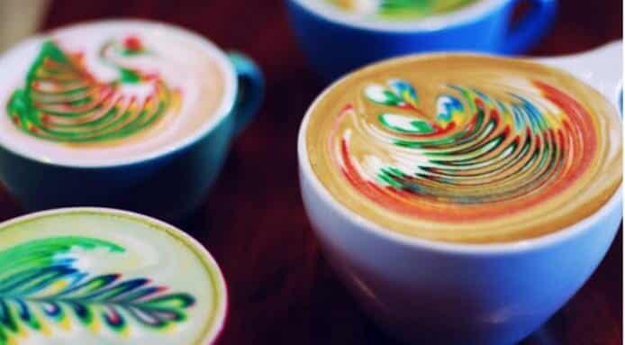 Regenboog koffie