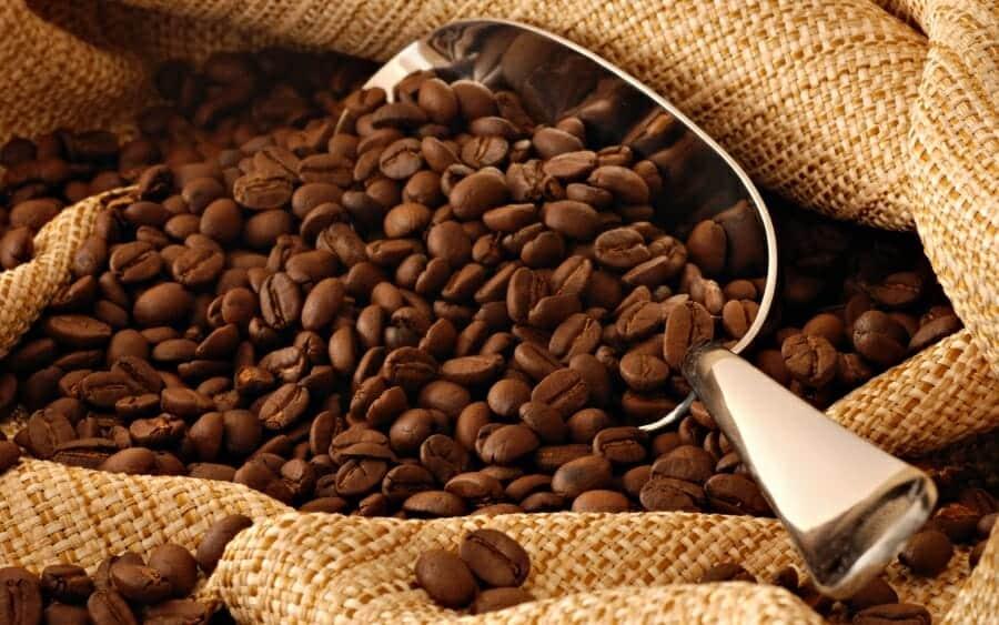 Oude koffiebonen