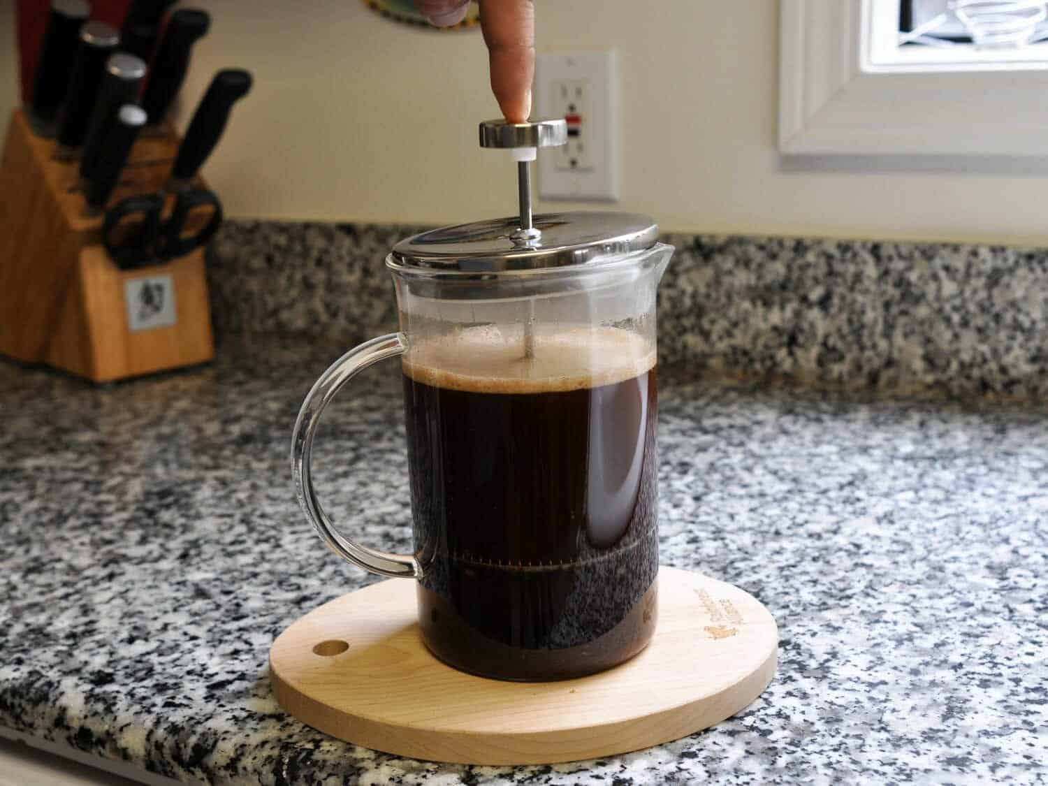 Bereiding French press koffie