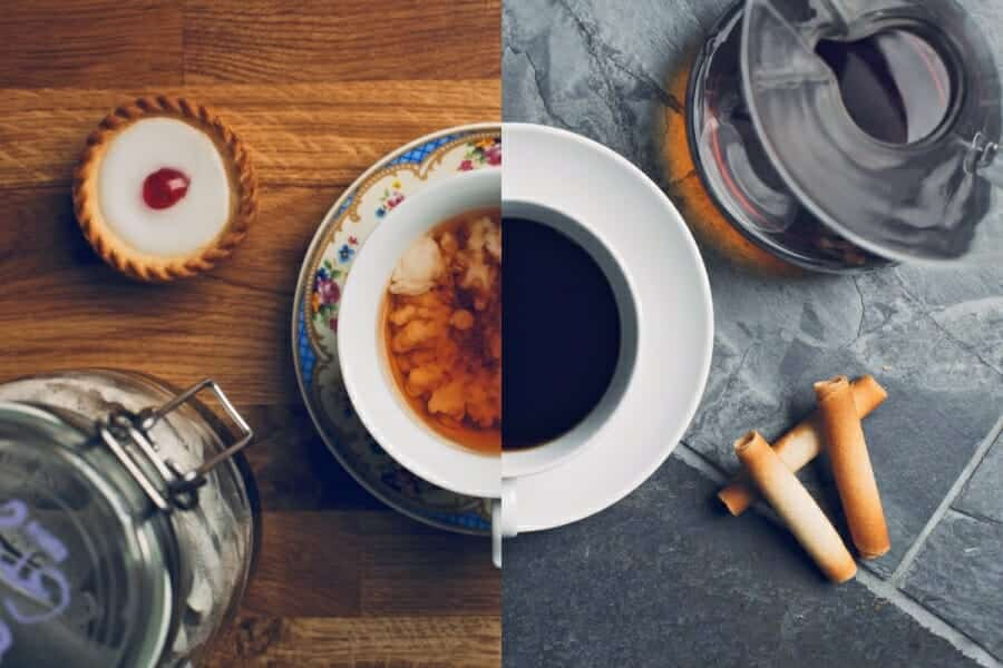 Koffie vs thee