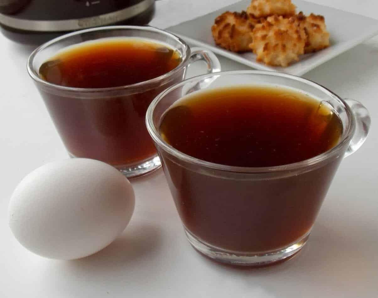 Zweedse koffie met ei