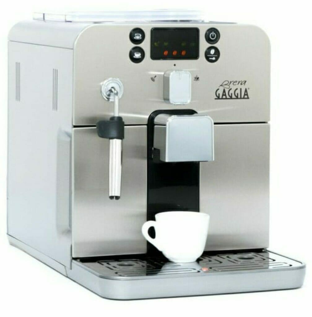 Koffievolautomaat Gaggia Brera vergelijken saeco incanto