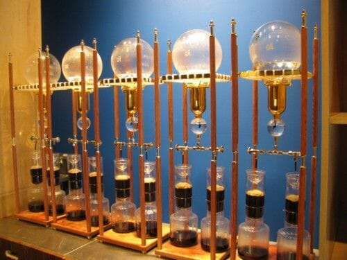 duurste koffiemachine Siphon Bar blue bottle cafe