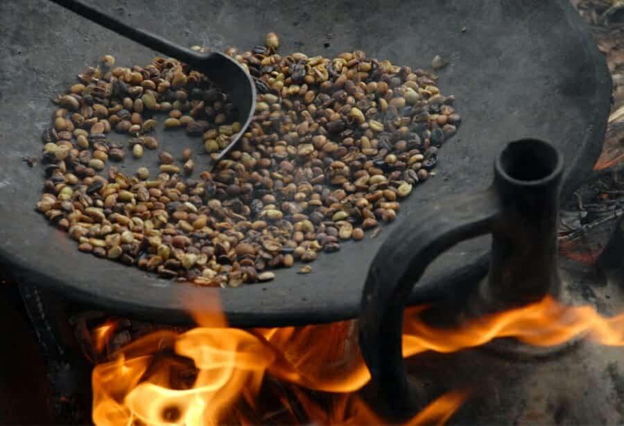 Ethiopische koffie branden