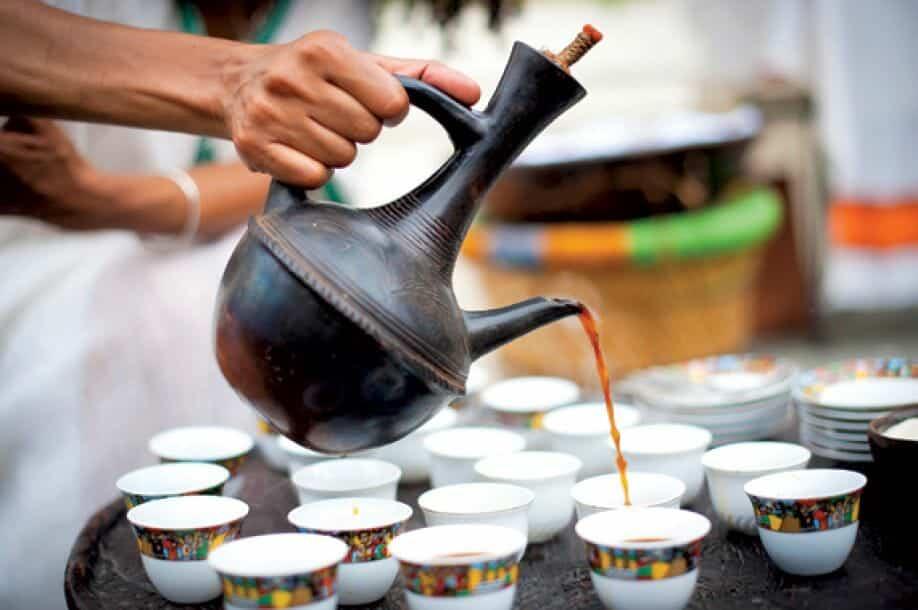 Ethiopische koffieceremonie