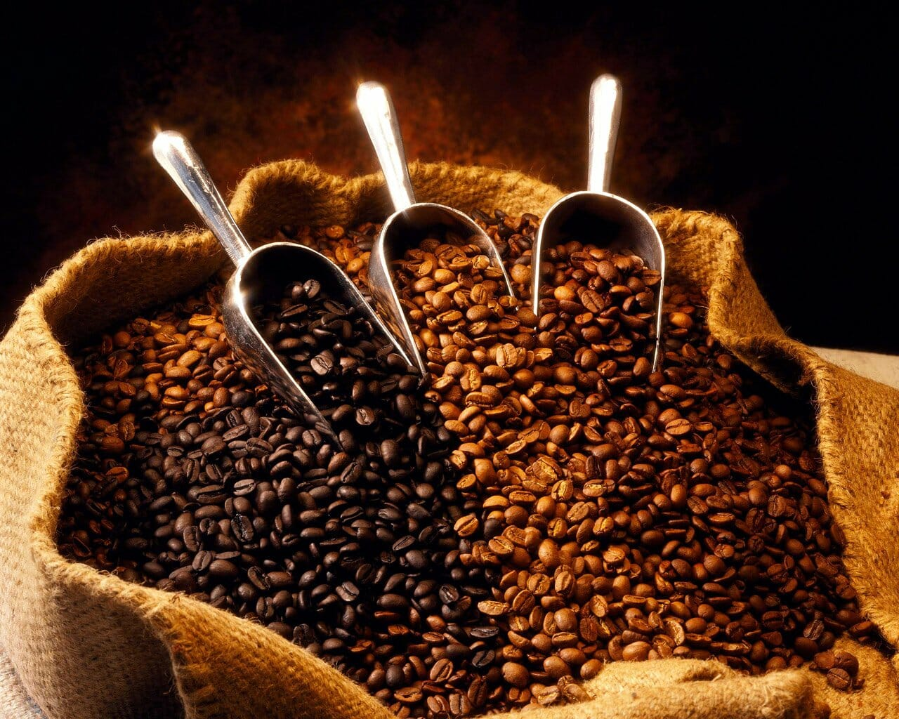 Koffiebonen branden