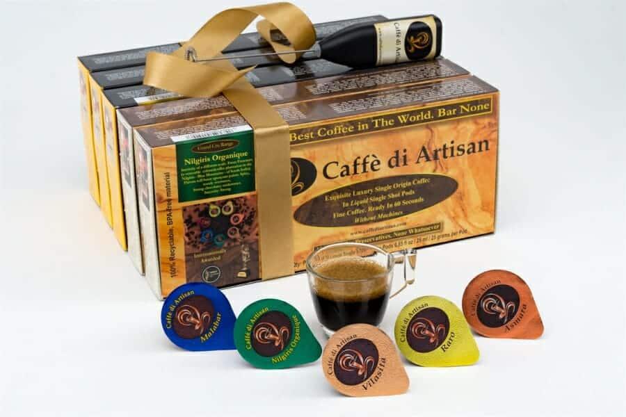 Bereidingsmethodes voor luie koffiedrinkers vloeibare koffiecups