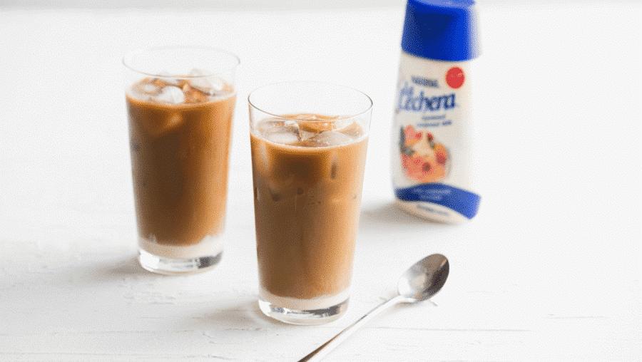 Cafe con leche ijskoffie