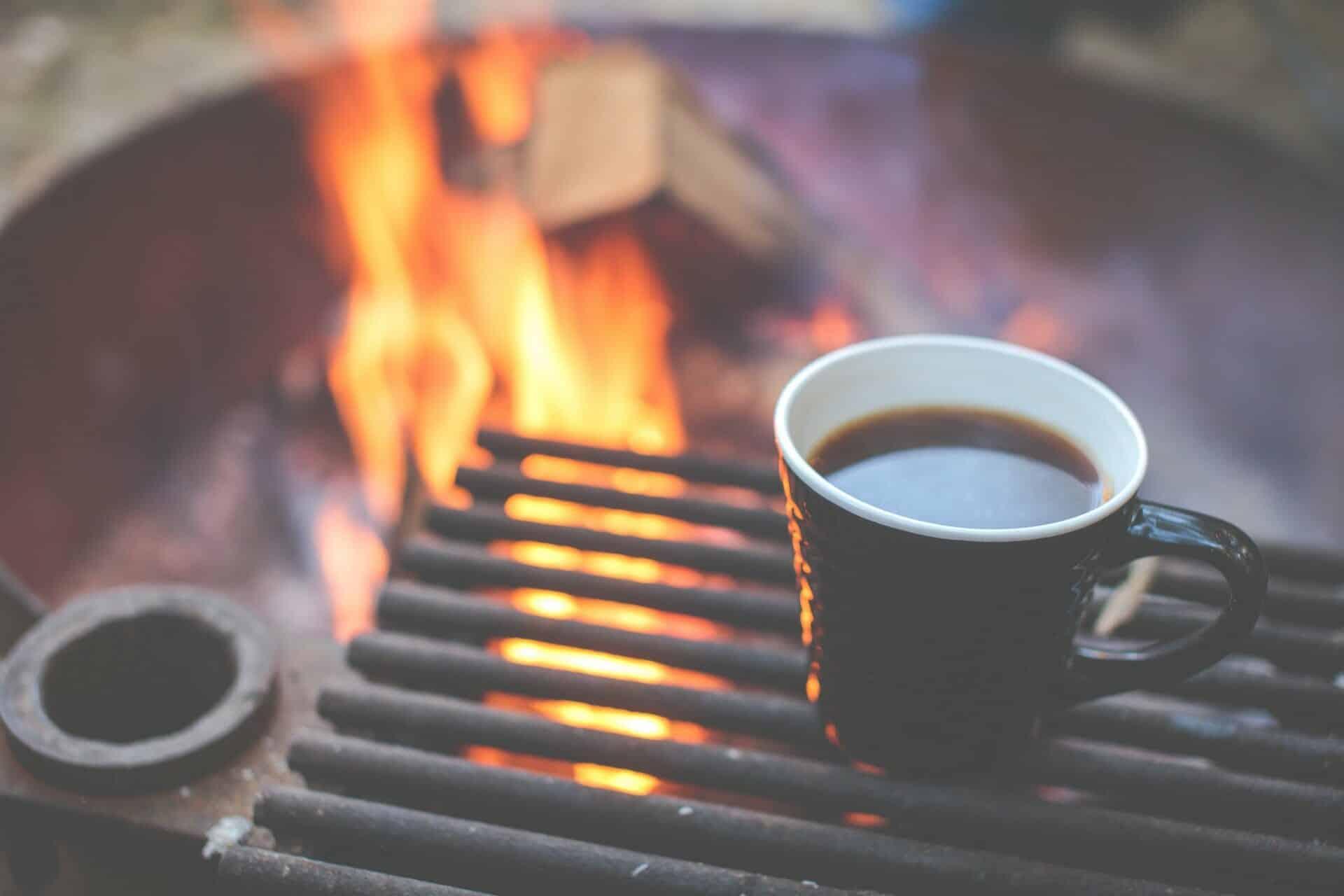 Koffie tijdens kamperen