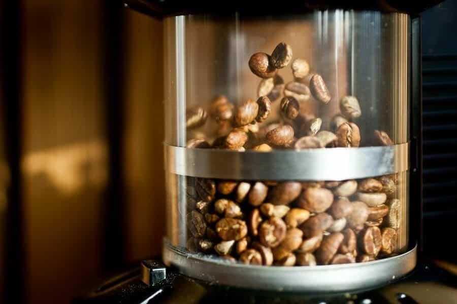 Popcorn machine koffie branden