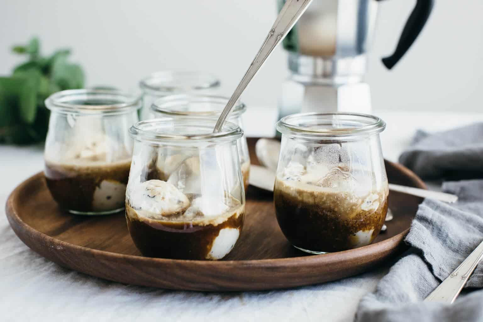 Unieke koffiedranken Affogato