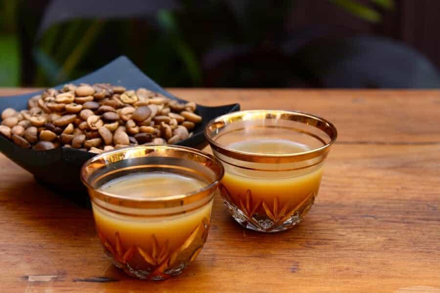 Unieke koffiedranken Qahwa