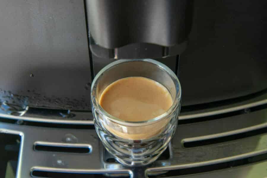 Espresso met rijke crema