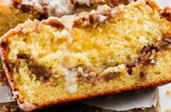 Pecannoot en koffie cake met kruimeltopping recept