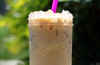 Romige oplos ijskoffie